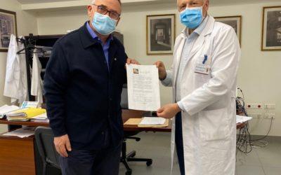 ENTREGA MAMPARAS ANTI COVID19 COMPLEJO HOSPITALARIO DE PONTEVEDRA